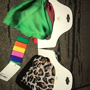 NWT Forever 21 Multi Color Scarves and Bracelet
